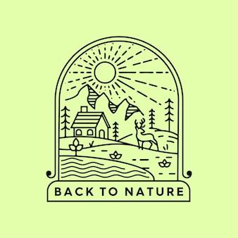 Terug naar natuur monoline