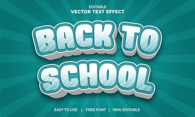 Terug naar school 3d editabe teksteffect