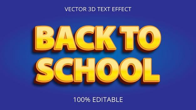 Terug naar school 3d-teksteffect creatief ontwerp