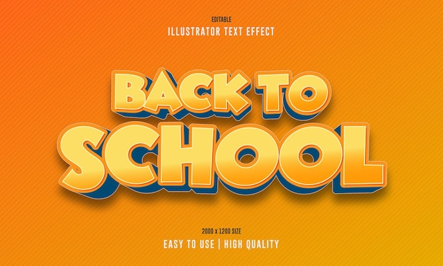 Terug naar school 3d-teksteffect