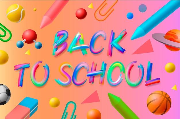 Terug naar school achtergrond vector afbeelding