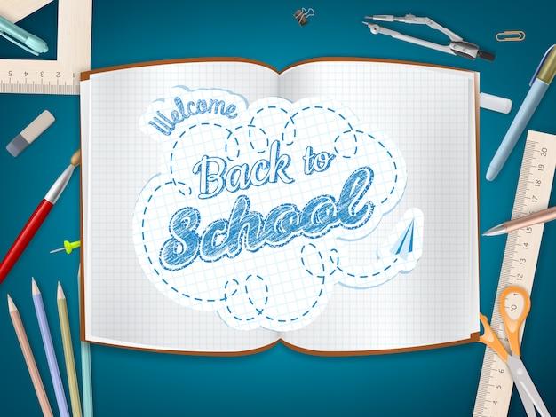 Terug naar school achtergrond.