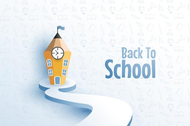 Terug naar school achtergrond
