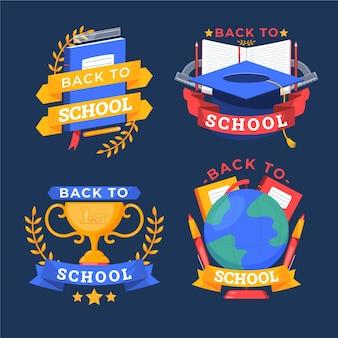 Terug naar school badges collectie
