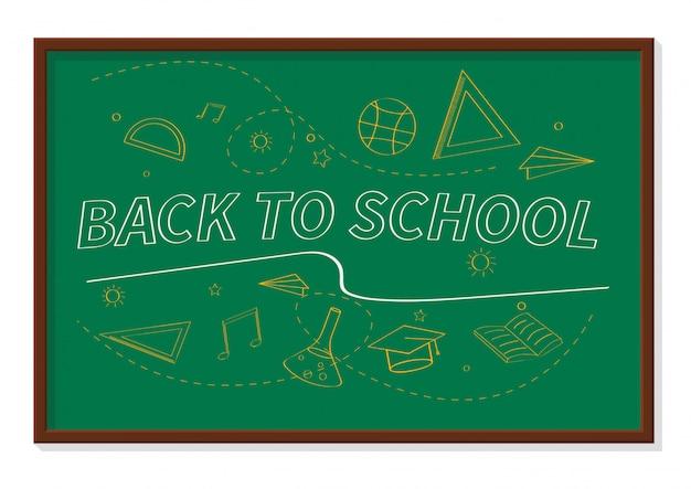 Terug naar school banner illustratie