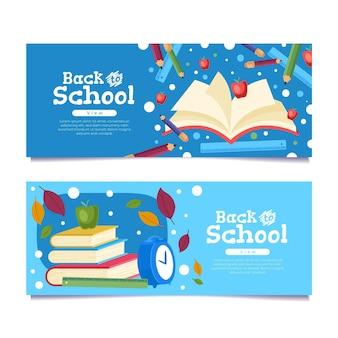 Terug naar school banners concept