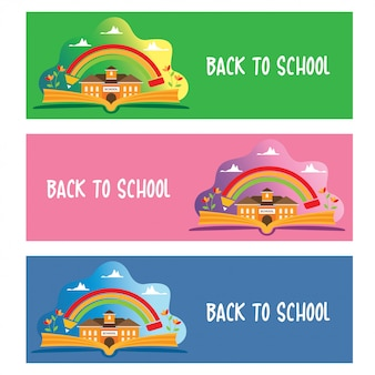 Terug naar school banners ontwerpset