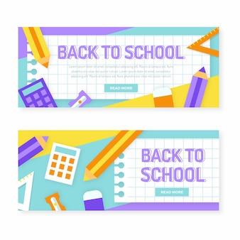 Terug naar school banners sjabloon