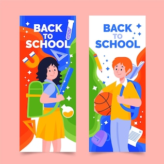 Terug naar school banners tekenen