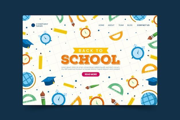 Terug naar school bestemmingspagina webtemplate