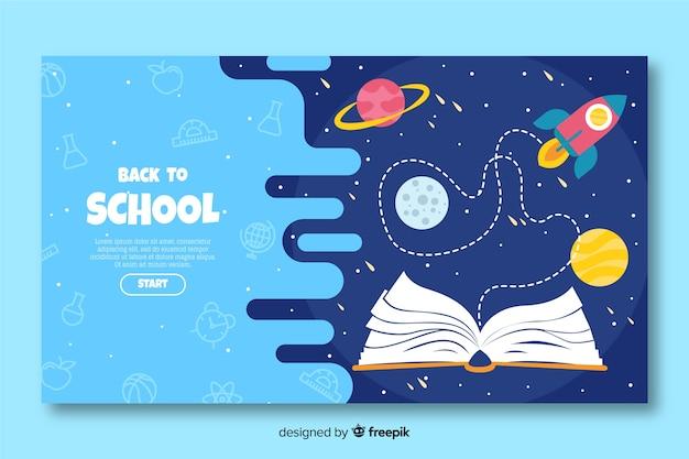 Terug naar school bestemmingspagina