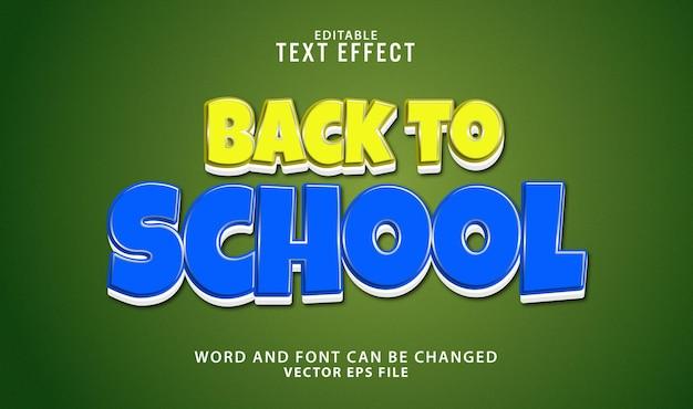 Terug naar school bewerkbaar 3d-teksteffect