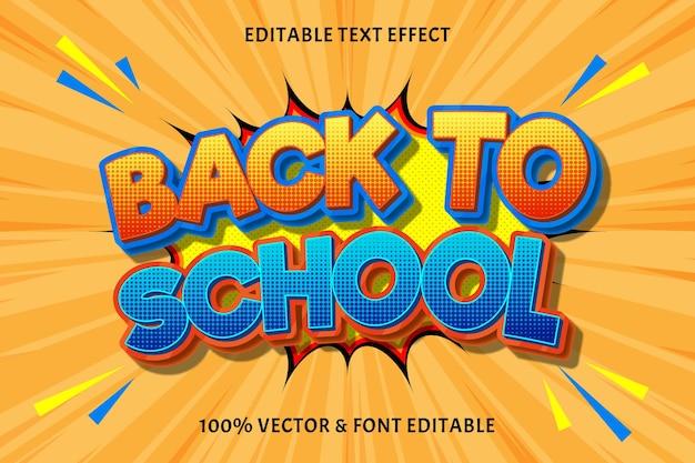 Terug naar school bewerkbaar effect
