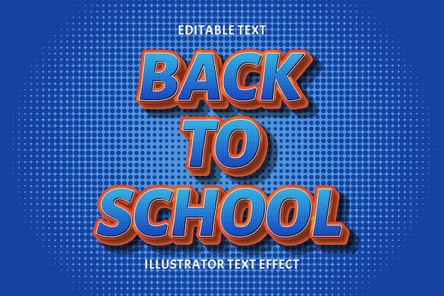 Terug naar school bewerkbaar tekst effect