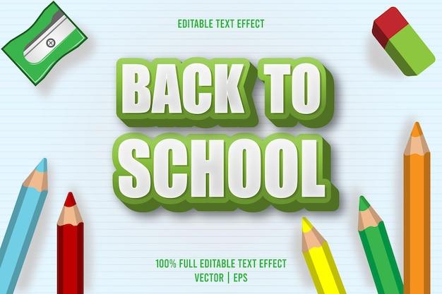 Terug naar school bewerkbaar teksteffect