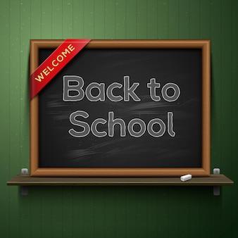 Terug naar school, bord op de plank