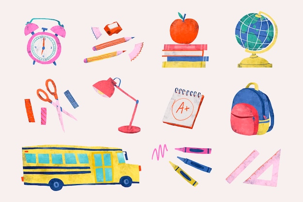 Terug naar school briefpapier set