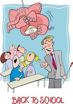 Terug naar school cartoon afbeelding