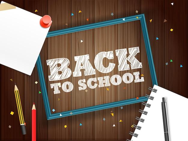 Terug naar school-concept. belettering banner