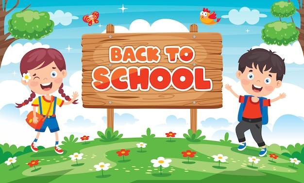 Terug naar school concept met grappige kinderen