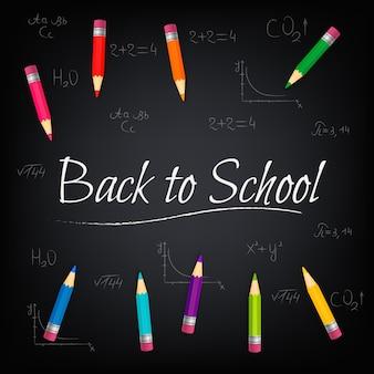 Terug naar school. concept student vector schoolbord