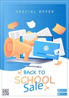 Terug naar school de eerste schooldag het begin van de lessen een computer met document