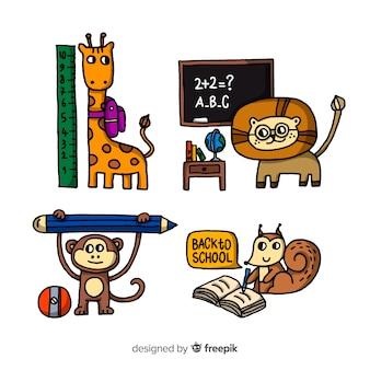 Terug naar school dierencollectie