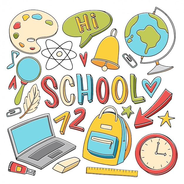 Terug naar school doodle