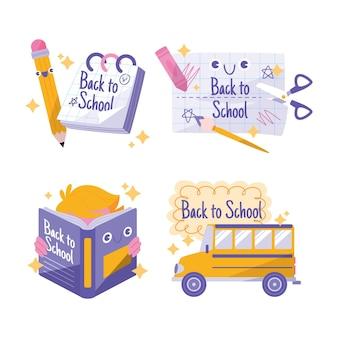 Terug naar school etiketten collectie