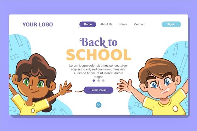 Terug naar school homepage-sjabloon