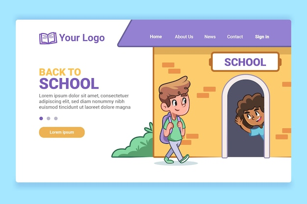 Terug naar school homepage-stijl