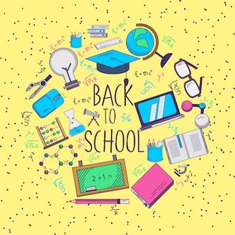 Terug naar school illustratie met jaren '90stijl
