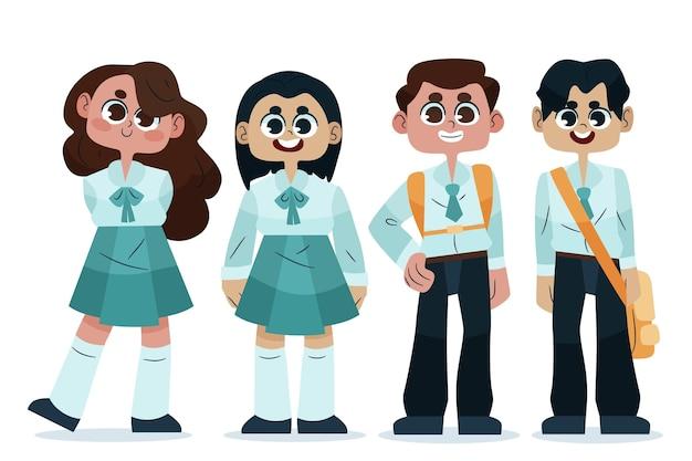 Terug naar school illustratie ontwerp