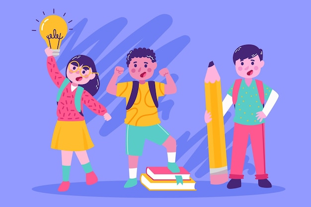 Terug naar school illustratie thema
