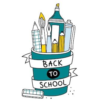 Terug naar school illustratie