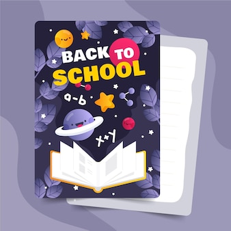 Terug naar school kaartsjabloon collectie
