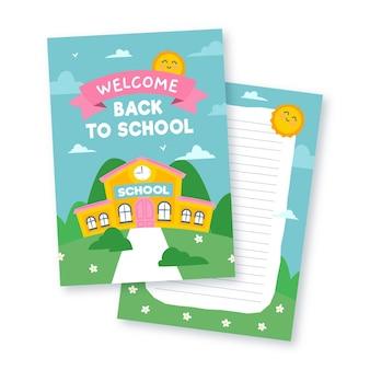 Terug naar school kaartsjabloon ontwerp