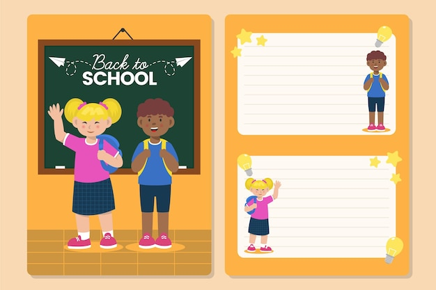 Terug naar school kaartsjabloon