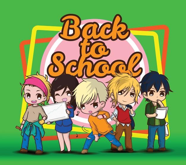 Terug naar school., kinderen in banenpak