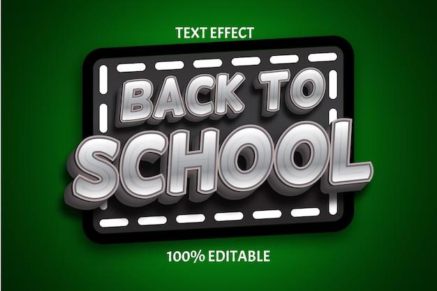 Terug naar school kleur groen grijs bewerkbaar teksteffect