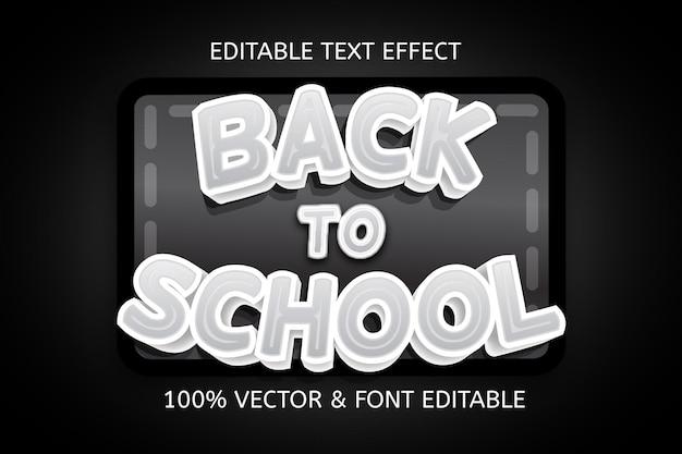 Terug naar school kleur zwart wit bewerkbaar teksteffect
