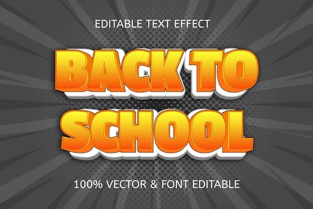 Terug naar school komisch bewerkbaar teksteffect