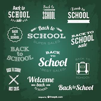 Terug naar school krijt elementen
