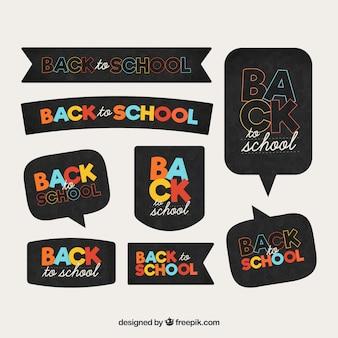 Terug naar school label collectie
