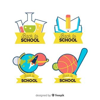 Terug naar school label collectio
