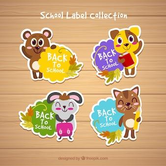 Terug naar school labels-collectie