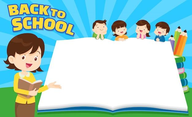 Terug naar school leeg boek