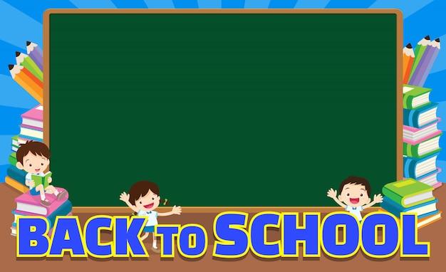 Terug naar school leeg schoolbord