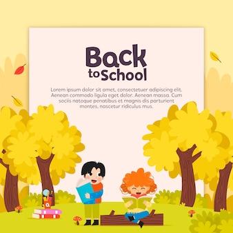 Terug naar school met kind lezen achtergrond