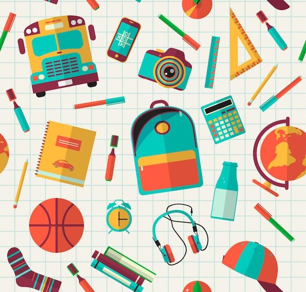 Terug naar school naadloos patroon